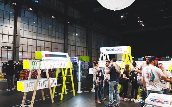 L'evento 'Sneakerness' di Swatch Italia a Zurigo, Svizzera del 2014 per la collezione