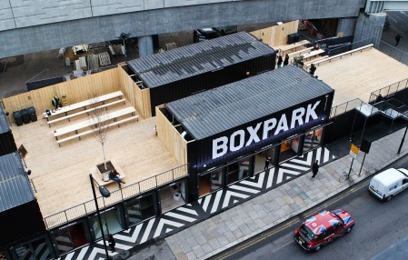 Il Boxpark di Londra (Photo Credit casecontainer.it)