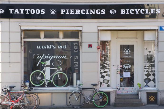 tattoos piercings bicycles