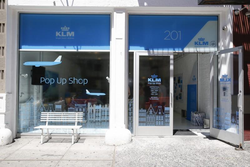 KLM pop up shop