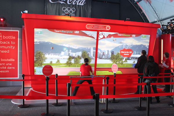 Coca Cola Vancouver Olympics Pavilion Recycling Interactive Game.